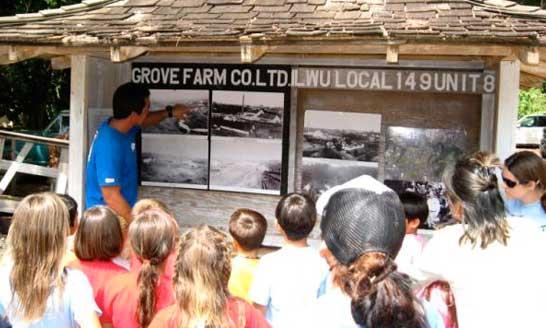 Students Visiting Grove Farm